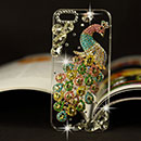 Apple iPhone 5 Luxus Pfau Strass Diamant Bling Tasche Schutzhülle Case - Bunt