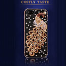 Apple iPhone 5 Luxus Pfau Strass Diamant Bling Tasche Schutzhülle Case - Gelb