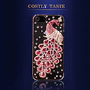 Apple iPhone 5 Luxus Pfau Strass Diamant Bling Tasche Schutzhülle Case - Hot Pink