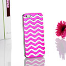 Apple iPhone 5 Welle Aluminum Metal Plated Tasche Schutzhülle Cover - Hot Pink