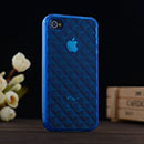 Silikon Tasche Apple iPhone 4 Hülle Diamant TPU - Blau
