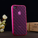 Silikon Tasche Apple iPhone 4 Hülle Diamant TPU - Hot Pink
