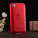Silikon Tasche Apple iPod Touch 4 Hülle Diamant Silicone - Rot