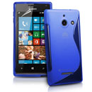 Silikon Tasche Huawei Ascend W1 Windows Phone S-Line Schutzhülle Gel Case - Blau