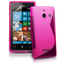 Silikon Tasche Huawei Ascend W1 Windows Phone S-Line Schutzhülle Gel Case - Hot Pink