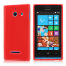 Silikon Tasche Huawei Ascend W1 Windows Phone Schutzhülle Gel Case - Rot